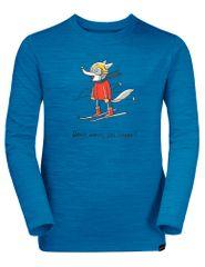Jack Wolfskin fantovska majica Skiing Wolf Longsleeve Kids 1608831-1361, 164, modra