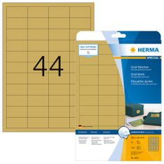 Herma Movables® 4102 etikete, A4, 48,3 x 25,4 mm, zlate