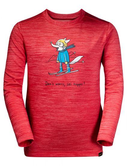 Jack Wolfskin lány funkcionális póló SKIING WOLF LONGSLEEVE KIDS 1608831-2122