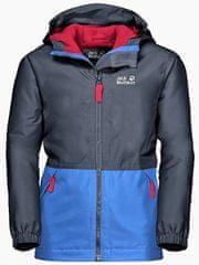 Jack Wolfskin Dziecięca kurtka SNOWY DAYS JACKET KIDS 1607981-1033 104 Niebieska