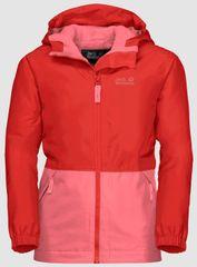 Jack Wolfskin dziewczęca kurtka SNOWY DAYS JACKET KIDS 1607981-2681 92 Czerwona
