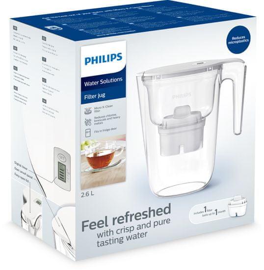 Philips dzbanek filtrujący AWP2935WHT/10, biały, 2,6l