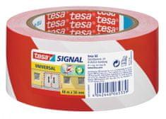 Tesa Univerzálna lepiaca značkovacia páska tesa®, výstražná páska odolná voči UV žiareniu, na označenie nebezpečných oblastí, 66m:50mm