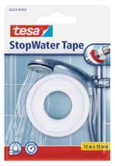 Tesa Páska neprepúšťajúca vodu tesa® StopWater, opravná lepiaca páska na utesnenie hlavíc so závitmi, ventilov, batérií apod., 12m:12mm