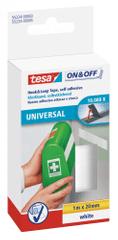 Tesa Univerzálna lepiaca páska so suchým zipsom tesa® On & Off je obojstranná samolepiaca páska na pripevnenie ľahkých vecí, 1m:20mm
