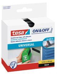 Tesa Univerzálna lepiaca páska so suchým zipsom tesa® On & Off je obojstranná samolepiaca páska na pripevnenie ľahkých vecí, 2,5m:20mm