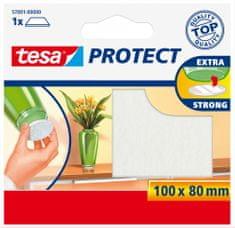 Tesa PROTECT, Plstěná samolepící podložka, obdélník, hnědá, 100mm:80mm