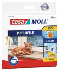 Tesa tesamoll® Gumové těsnění, bílé, na okna a dveře, P profil, 6m