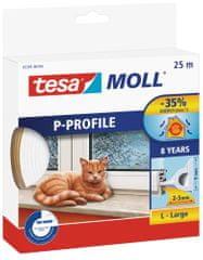 Tesa tesamoll® Gumové těsnění, hnědé, na okna a dveře, P profil, 25m