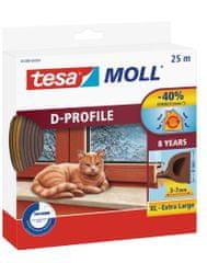 Tesa tesamoll® Gumové těsnění, hnědé, na okna a dveře, D profil, 25m