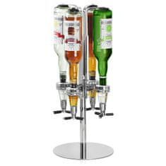 bar@drinkstuff Otočný stojan na 4 fľaše