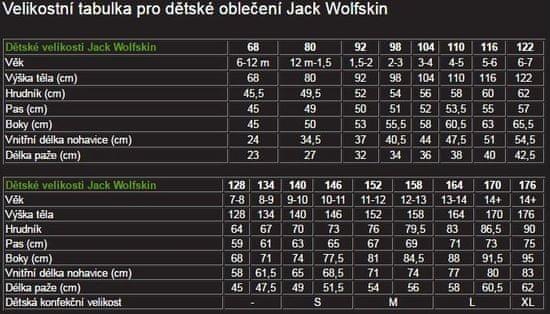 Jack Wolfskin detská mikina GECKO KIDS 1605552-1108