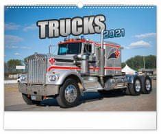 Kalendář 2021 nástěnný: Trucks, 48 × 33 cm