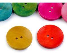 Kraftika 20ks ix barev dřevěný dekorační knoflík