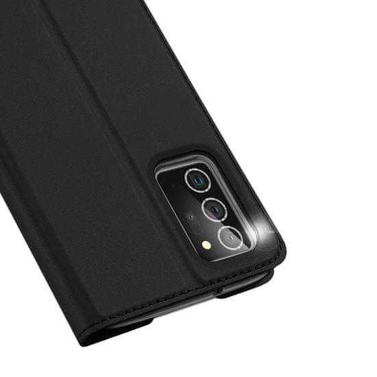 Dux Ducis Skin Pro bőr könyvtok Samsung Galaxy Note 20, fekete