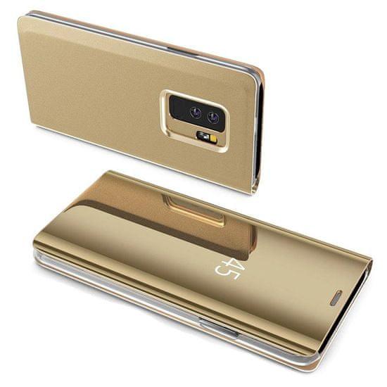 MG Clear View usnjeni ovitek za Samsung Galaxy S7 Edge, zlato