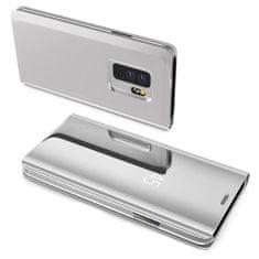 MG Smart Clear View usnjeni ovitek za Samsung Galaxy S7 Edge, srebrna