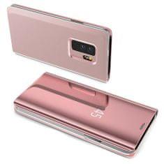 MG Clear View usnjeni ovitek za Samsung Galaxy S7 Edge, roza