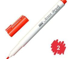 Marvy Popisovač 1100 artist brush red, marvy, inkoustové