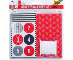 """Kraftika Adventní kalendář - set - papírové sáčky - 29 ks """"style"""""""