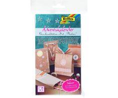 Kraftika Adventní kalendář - set- dárkové papírové tašky - natur