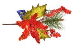 EverGreen zasnova z božičnim okrasjem in jagodami, višina 45 cm A