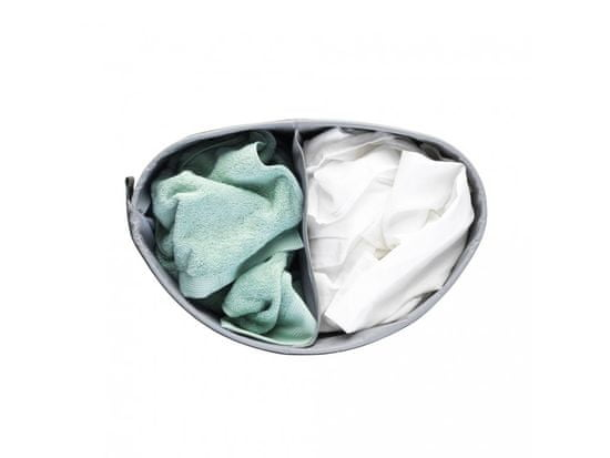 Brabantia Selector koš za perilo, jeklo, 55 l, bel
