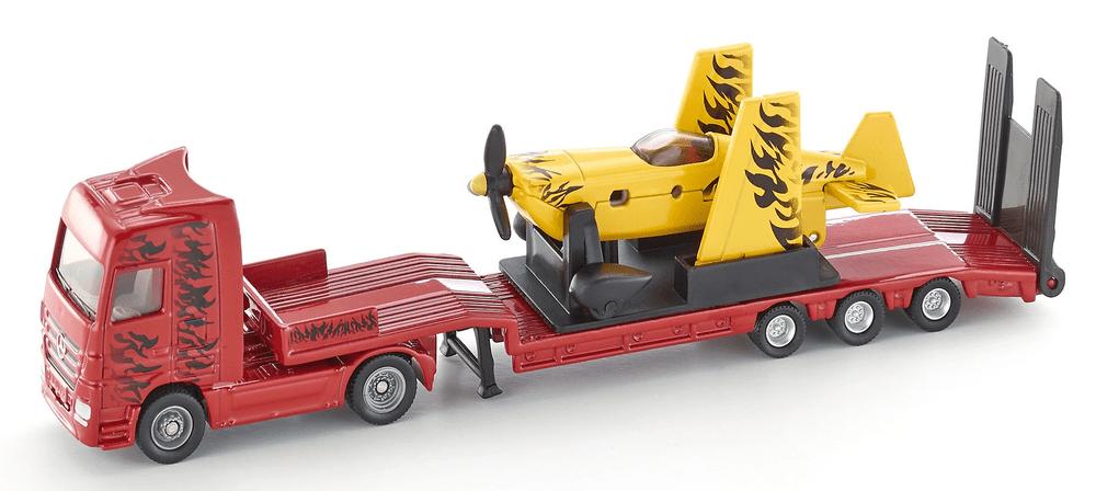 SIKU Super 1866 Kamion s vlekem a sportovním letadlem 1:87