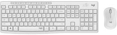 Logitech MK295 Silent brezžični namizni komplet, beli, US/Intl.