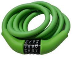 Carol Cycle ključavnica 12 x 1500 mm, mehka, na številke, nastavljiva kombinacija zelena