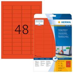 Herma Superprint 4367 etikete, 45,7 x 21,2 mm, rdeče, 20 kos