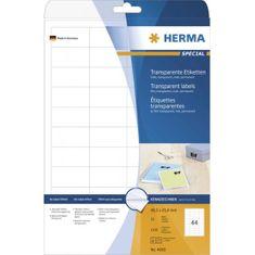 Herma Superprint 4375 etikete, A4, 210 x 297 mm, prozorne