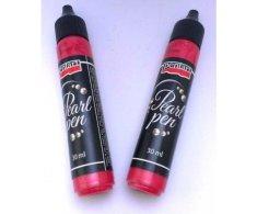Kraftika 3d perleťové pero 30ml - červená, pentart, kontury