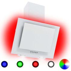 Greatstore RGB Nástenný digestor s LED 60 cm nehrdzavejúca oceľ a tvrdené sklo