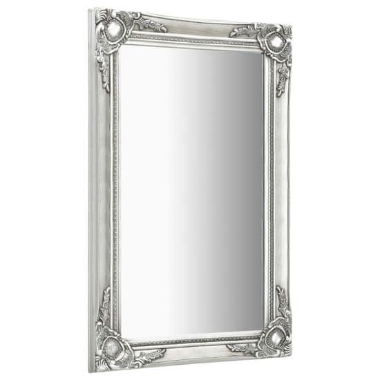 shumee Lustro ścienne w stylu barokowym, 60x100 cm, srebrne