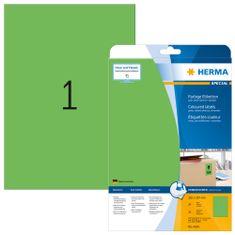 Herma Superprint 4424 etikete, A4, 210 x 297 mm, zelene