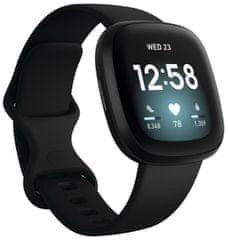 Fitbit Versa 3 pametna ura, črna