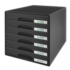 """Leitz Zásuvkový box """"Plus"""", černá, plast, 6 zásuvek 52120095"""