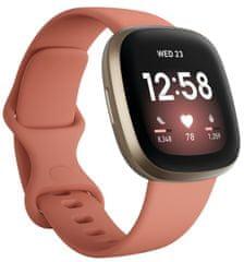 Fitbit Versa 3, Pink Clay / Soft Gold Aluminum