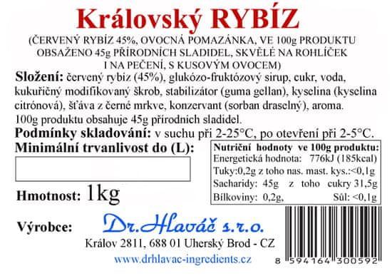 Dr. Hlaváč Džem Královský Rybíz 1 kg