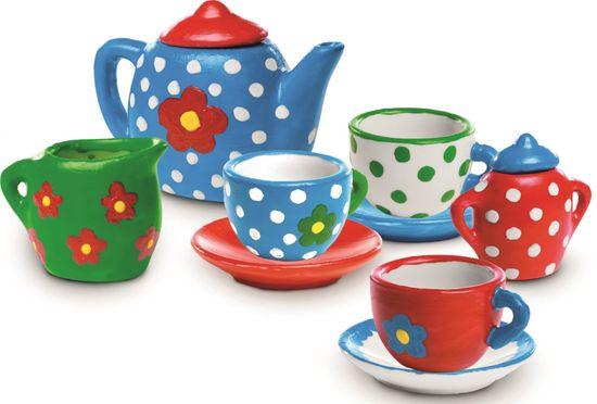 SES slikanje čajnega kompleta