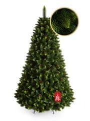 Božično drevo Bor z zelenimi konicami 220 cm