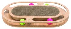 Trixie drapak w drewnianej ramie z kocimiętką i zabawkami, 45x4x25cm
