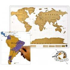commshop Stírací mapa světa Deluxe