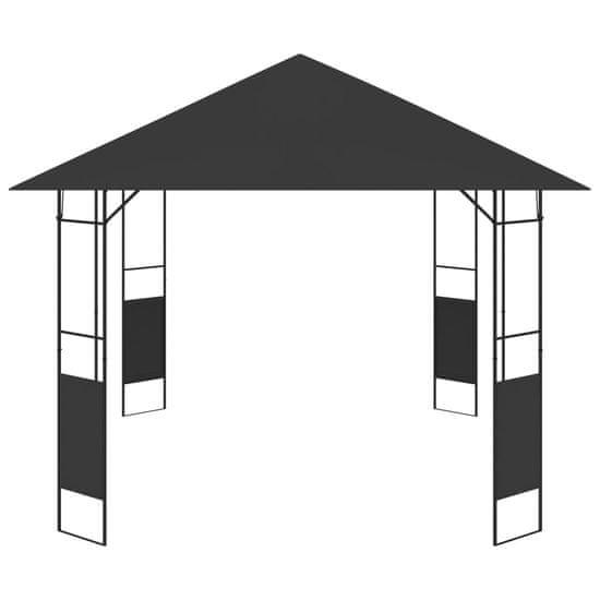 shumee antracitszürke kerti pavilon 4 x 3 m 160 g/m²