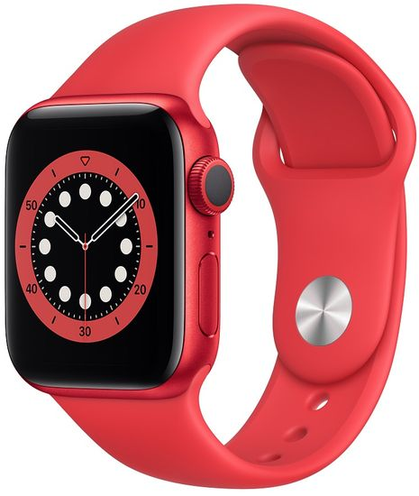 Apple Watch Series 6, 40mm PRODUCT(RED) Aluminium Case with PRODUCT(RED) Sport Band (M00A3HC/A)