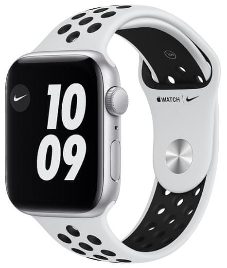 Apple Watch Nike SE , 44mm Silver Aluminium Case with Pure Platinum/Black Nike Sport Band (MYYH2HC/A)