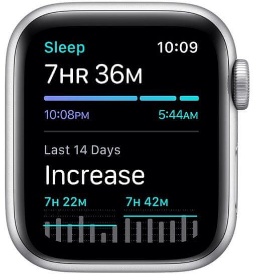 Apple Watch SE, 40mm Silver Aluminium Case with White Sport Band (MYDM2HC/A)