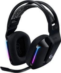 Logitech G733 Lightspeed brezžične slušalke, črne