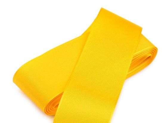 Kraftika 10m žlutá stuha taftová šíře 40mm